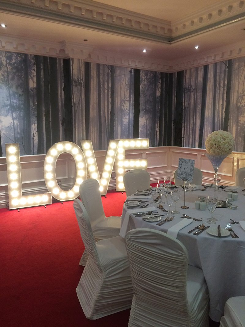 Light Up Love Letters Hire | Love Letters Hire - Candy Lady