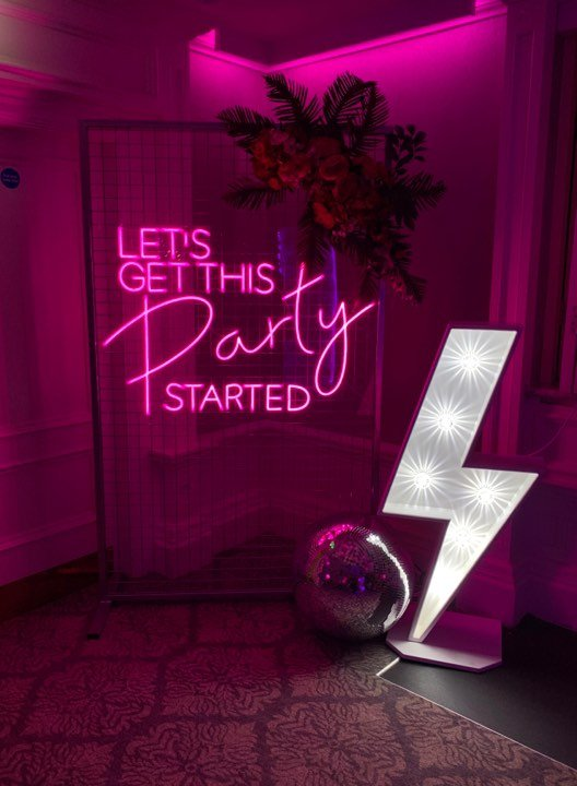Neon Backdrops for hire - Candy Lady