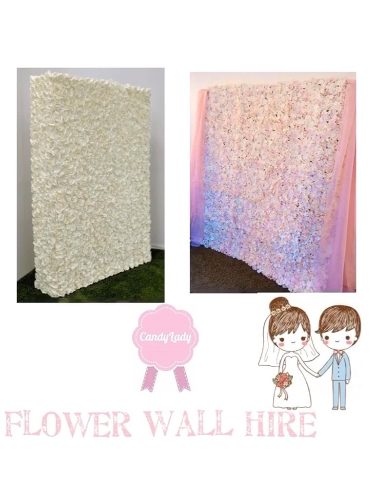 Flower Wall Hire - Candy Lady