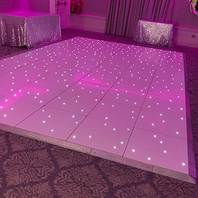Sparkle Dance Floor Hire - Candy Lady